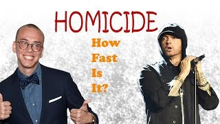 Speedtest: Logic - Homicide (ft. Eminem) How Fast Is It??