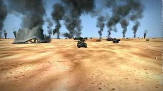 M4 Tank Brigade Online Beta Dessert Battlespace Game Play