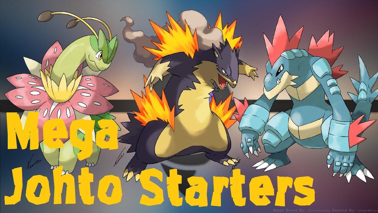 Mega Johto Starters Pokemon Omega Ruby And Alpha