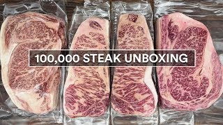 100K STEAK Unboxing - WOW Guga Foods Celebration!