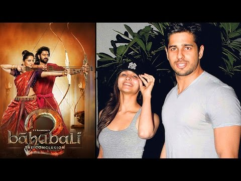 Alia Bhatt & Sidharth Malhotra Together To Watch Baahubali 2 - The Conclusion