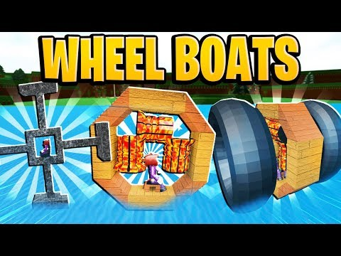 Boat Ideas For Build A Boat For Treasure Roblox Crazy Wheel Boat Designs In Build A Boat For Treasure In Roblox Youtube