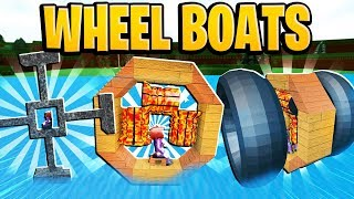 CRAZY Wheel Boat Designs In Build A Boat For Treasure In Roblox