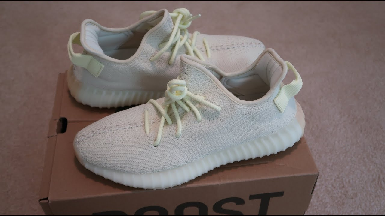 60abcf017 Yeezy Boost 350 V2  Butter  Sneaker Unboxing - YouTube