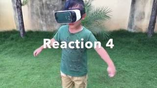Funny kids reactions to Virtual reality