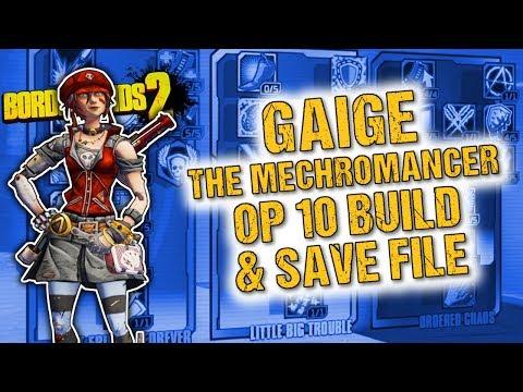 Gaige the Mechromancer Level 80 OP10 Build & Save File - Borderlands