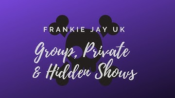 Chaturbate's Group, Private & Hidden Shows - FrankieJayUK ☠️