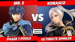 Genesis 6 SSBU -  Mr. E (Marth) VS  Kobasco (Robin) Smash Ultimate Pools