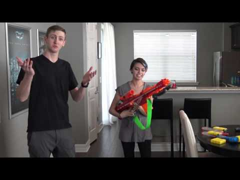 Nerf & Air Warriors Compatibility Demo - INTERCHANGEABLE PARTS, BROS!