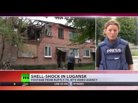 Leveling Lugansk? Rockets pound Ukrainian city as govt plans 'blockade'