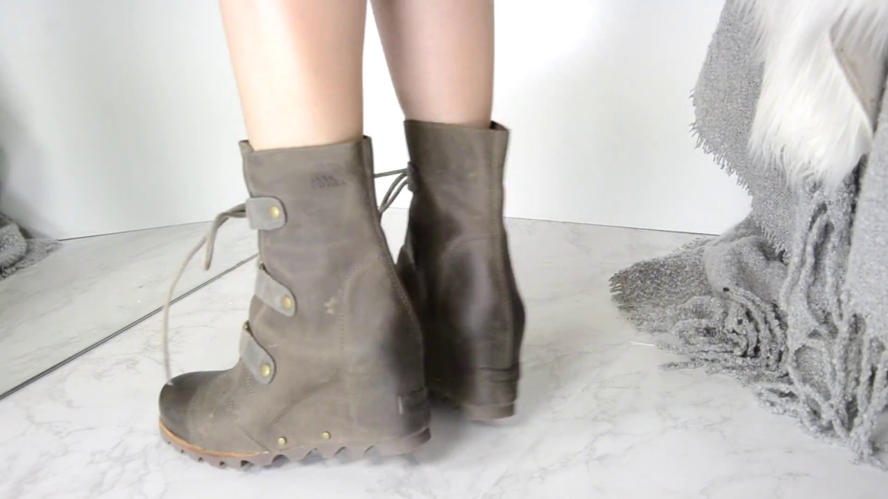 vast selection reliable quality latest fashion SOREL JOAN OF ARCTIC WEDGE WATERPROOF BOOT - YouTube