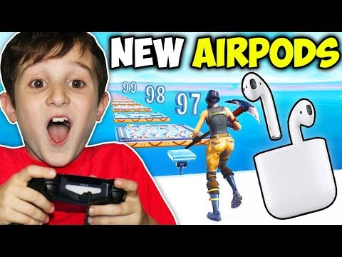 KID GETS AIRPODS IF BEATS DEATHRUN!!!! (FORTNITE)