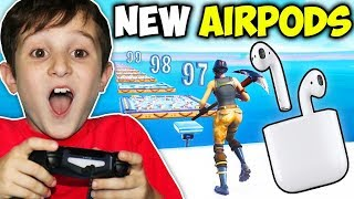9YR OLD GETS AIRPODS IF BEATS DEATHRUN!!!! (FORTNITE)