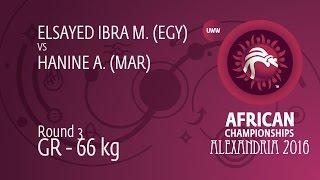 Round 3 GR - 66 kg: M. ELSAYED IBRA (EGY) df. A. HANINE (MAR) by FALL, 0-0