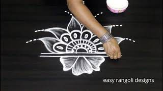 Freehand Rangoli designs || Kolam designs without dots || Latest Muggulu designs