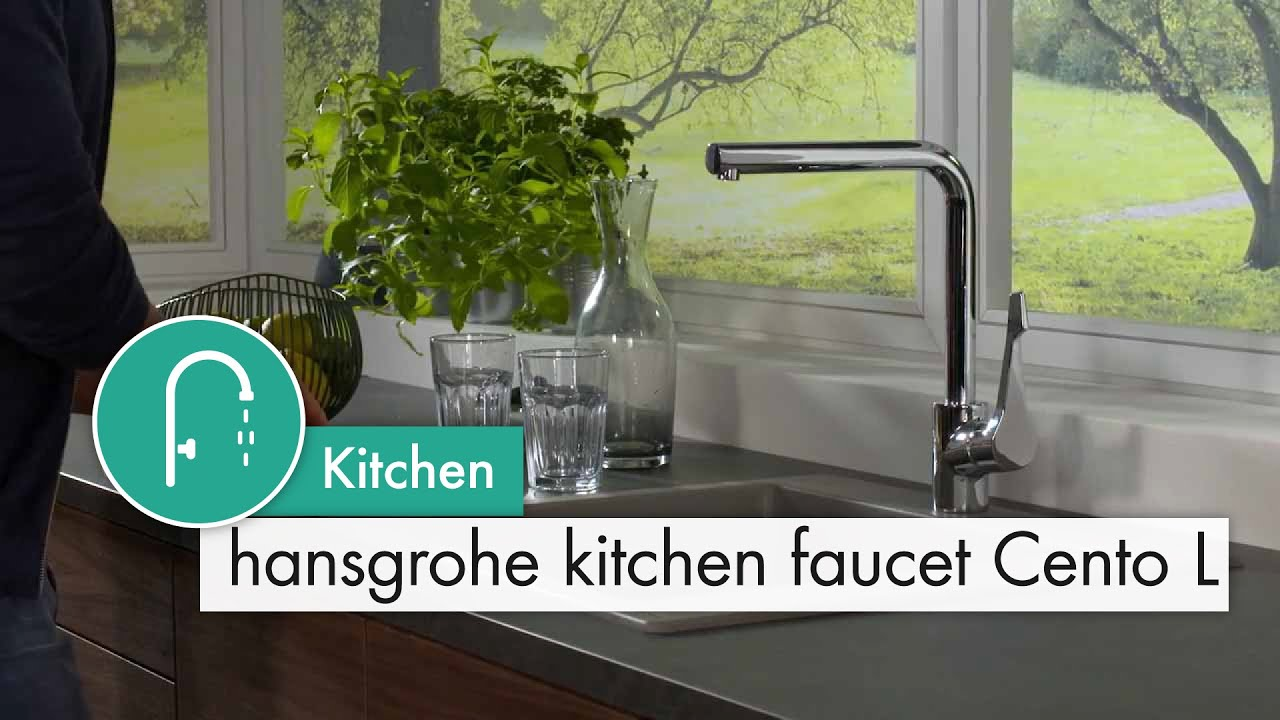 hansgrohe kitchen faucet cento l youtube