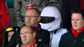 Mr Blobby And The Stig Support The Dons, Kilmarnock 1-1 Aberdeen, 23/02/2013