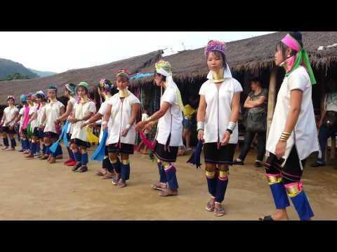 Karen Long-Neck Women Dancing, North Thailand