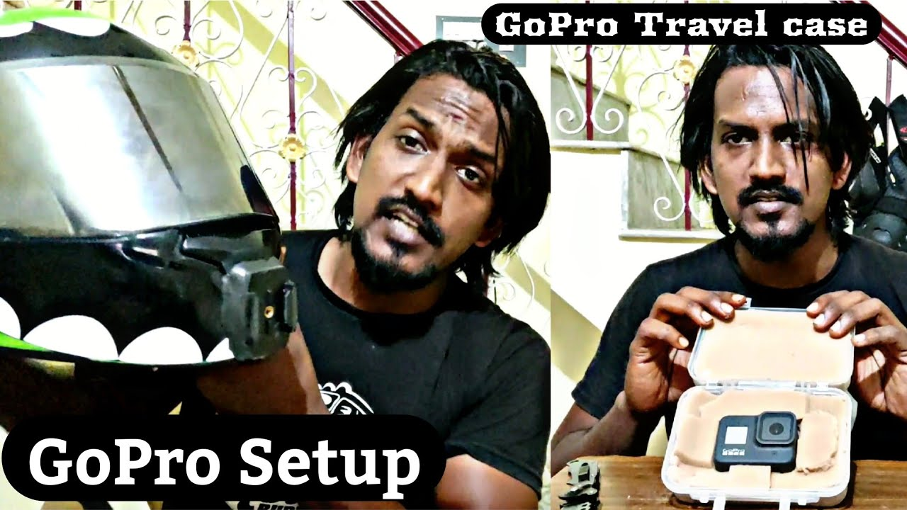 GoPro Setup in my Helmet / Home made Travel case for GoPro  / Black Buddy Tamil