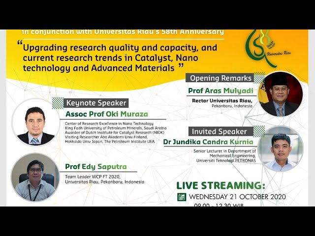 Upgrading Research Quality & Capacity - Catalyst, Nano Technology, Advance Materials
