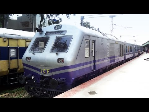 Newly arrived ICF DEMU Rake : Indian Railways