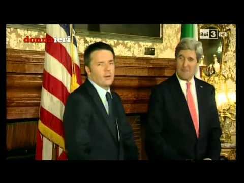 Matteo Renzi parla inglese a John Kerry