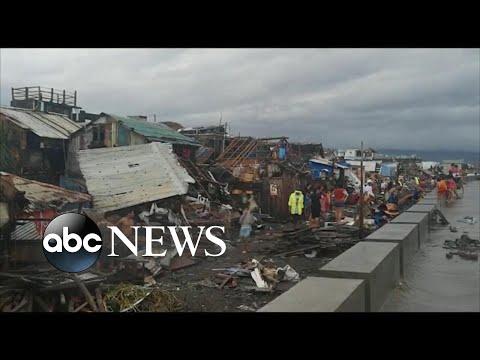 Typhoon Kammuri in Philippines rips through coastal town l ABC News