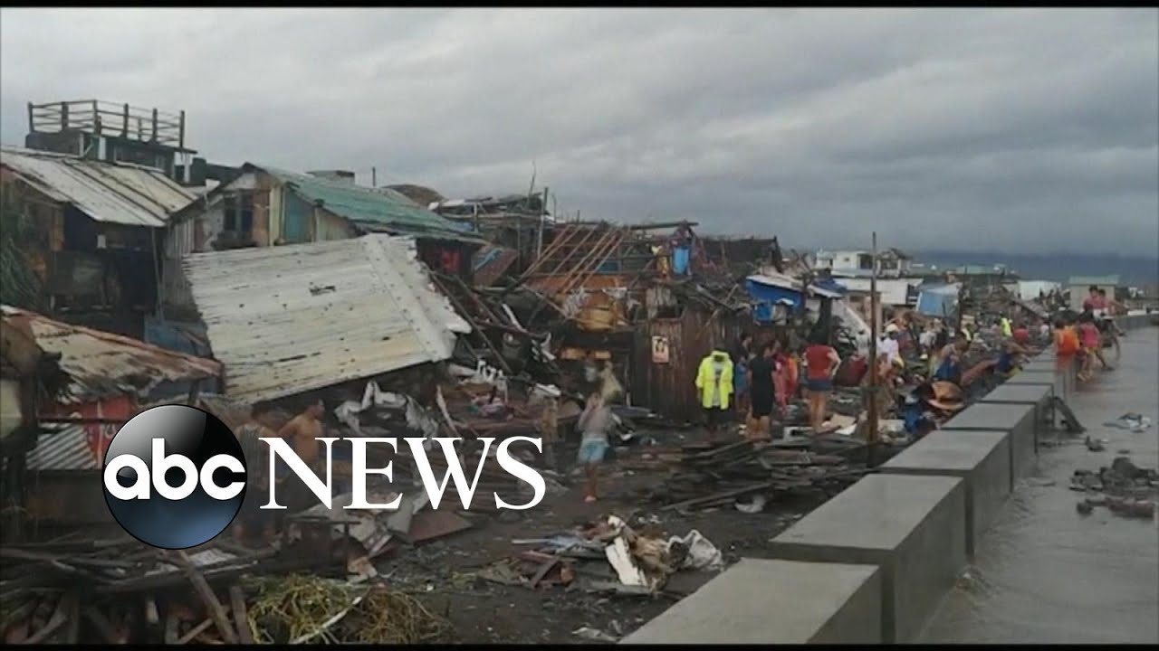 Typhoon Kammuri in Philippines rips through coastal town
