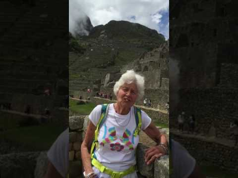 80 Years old women did Short Inca Trail