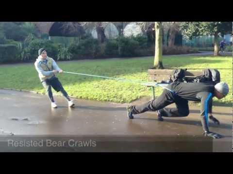 Fitness Explorer Training (Resisted Bear Crawls)