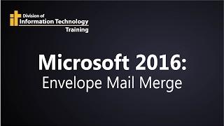 printing envelopes with microsoft mail merge