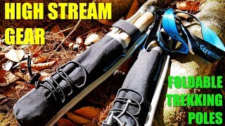 The Best Foldable Light Weight Hiking Poles? - High Stream Gear Collapsable Trekking Poles