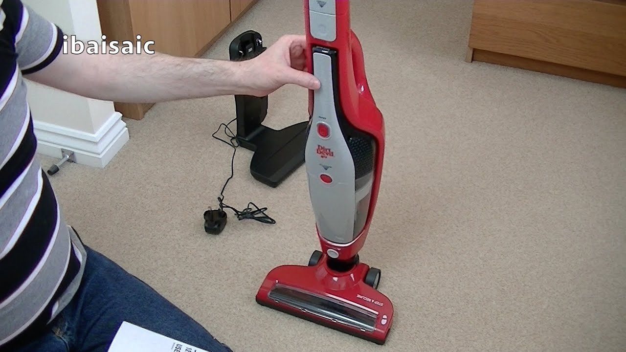 dirt devil handiclean 14 4v cordless 2 in 1 stick handheld vacuum unboxing first look youtube. Black Bedroom Furniture Sets. Home Design Ideas