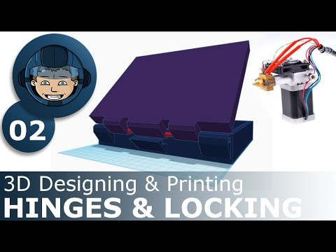 HINGES & LOCKING - 3D Designing & Printing: Ep. #2 - Making A Battlefield Game
