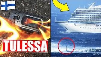 Puhelin syttyi tuleen Suomessa! Laivan moottori hajosi myrskyssä Norjassa