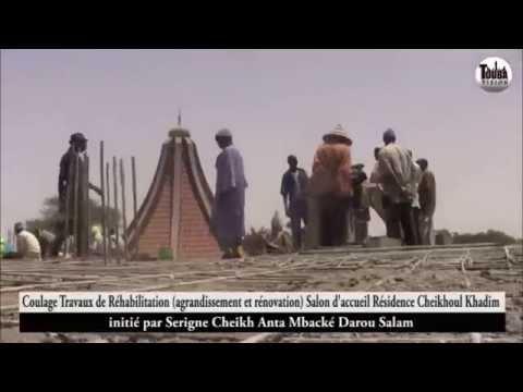 Coulage Traveaux de Réhabilitation Salon d'acceuil residence cheikhoul khadim par Mame Cheikh Anta