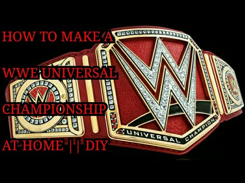 How To Make a WWE Universal Championship | Title