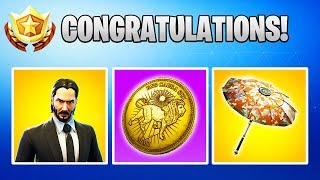 The FREE John Wick Rewards in Fortnite! | 2 Skins, Umbrella, Wrap!