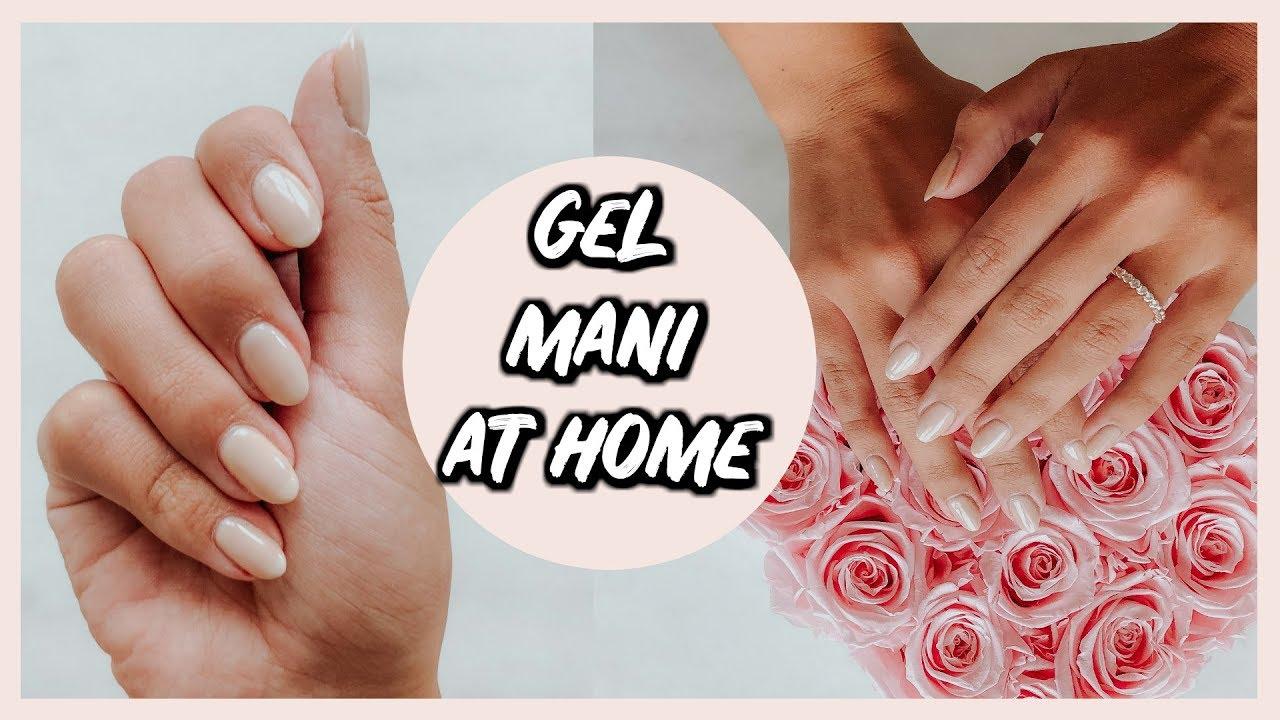 easy gel manicure home alexandrea