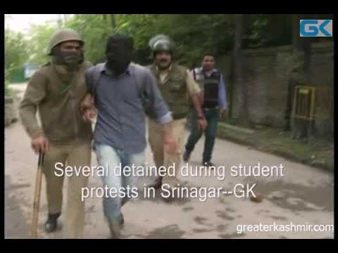 Several detained during student protests in Srinagar