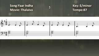 Yaar Indha Salai - Piano