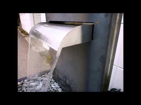 gartenbrunnen-slink.de wasserfall-stele aus cortenstahl / edelrost, Best garten ideen