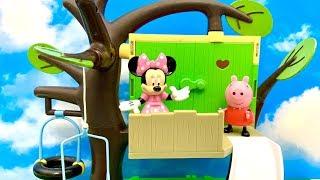 ☺️ Świnka Peppa i Myszka Minnie  Domek na drzewie i Zygzag  Bajka dla dzieci PO POLSKU