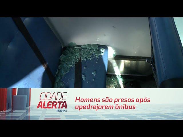 Homens são presos após apedrejarem ônibus escolar