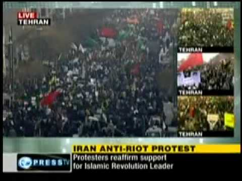 ANTI-RIOT PROTEST FROM TEHRAN: YOU WILL NEVER SEE IN ZIONIST MEDIA