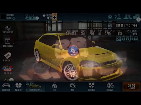 Racing Rivals Honda Civic type R perfect Launch + World Record tune Setup