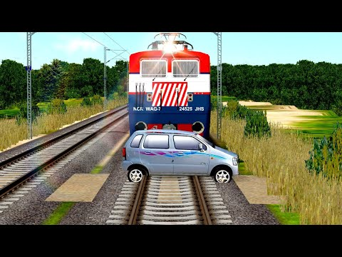 MALWA EXPRESS CROSSING AT UNMANNED LEVEL CROSSING INDIAN TRAIN SIMULATOR