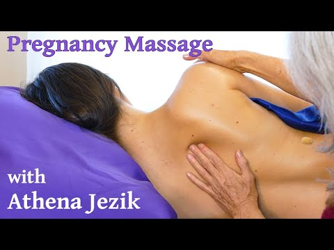 Athena Jezik Massage Tutorial for Pregnant Women, Back, Neck & Scalp, Prenatal, Side Lying Technique