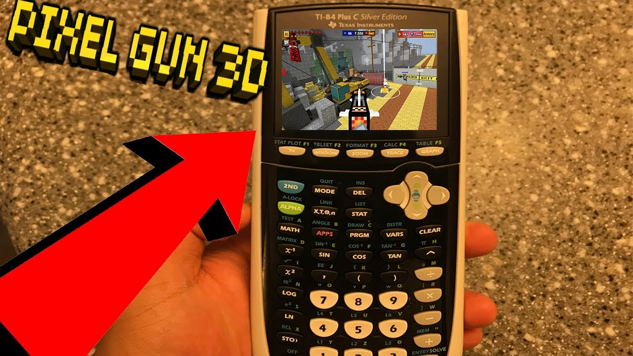 Playing PIXEL GUN 3D On a Calculator!!