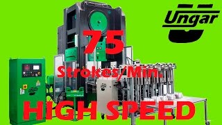 75rpm HIGH SPEED Aluminium Foil Container Machine UNGAR MACHINERY